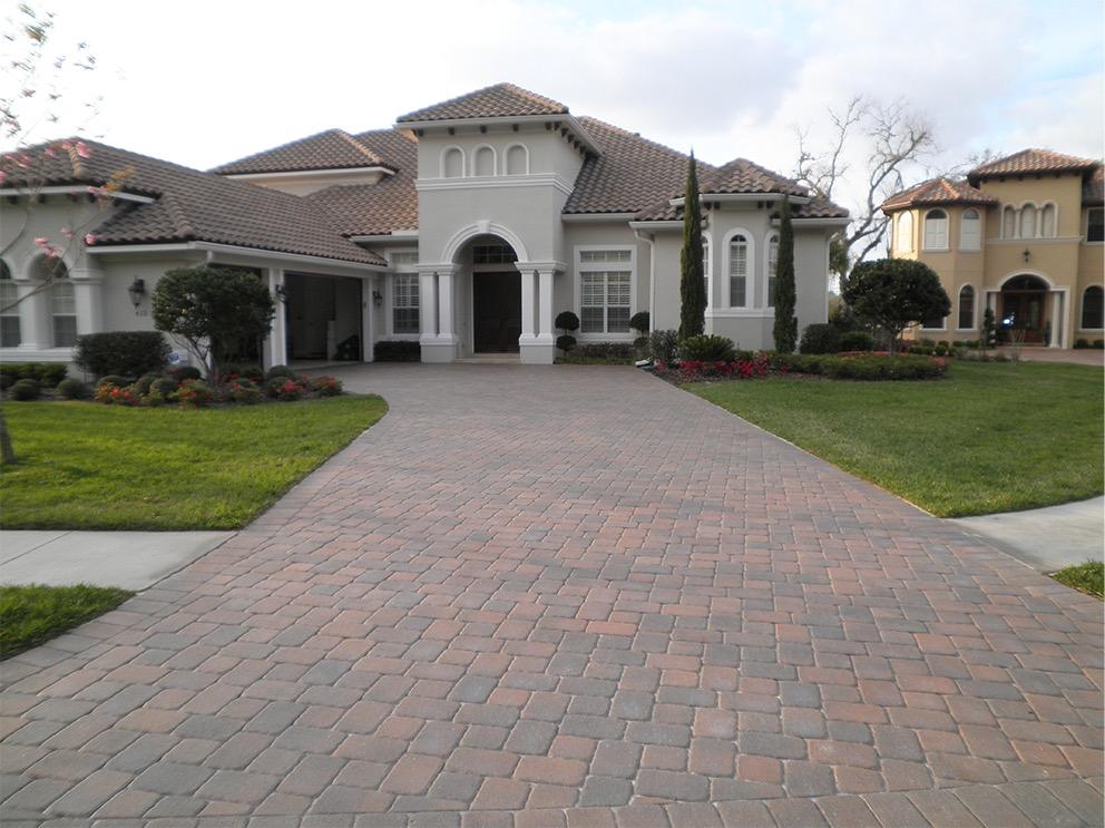 paved driveway after seal n lock